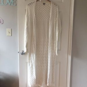 Ankle Length Crochet Sweater from Aerie